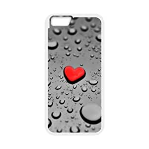 Vety Water Drop Heart IPhone 6 Plus Cases, {White}