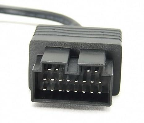 Goliton S-EOLF-KIA20P adaptador de cable OBD OBD2 16 Pin KIA 20 Pin Negro: Amazon.es: Electrónica