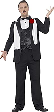 1940s Men's Costumes: WW2, Sailor, Zoot Suits, Gangsters, Detective Mens Fancy Party Dress Criminal Mafia Outfit Curves Gangster Costume $106.99 AT vintagedancer.com