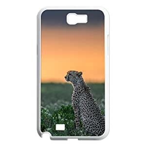 Cheetah Series, Samsung Galaxy Note 2 Case, Wild Cheetah Alone Case For Samsung Galaxy Note 2 [White]