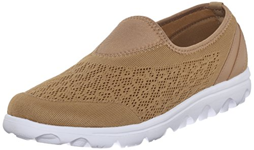 Propet Women's Travelactiv Slip On Fashion Sneaker, Honey, 8.5 4E US
