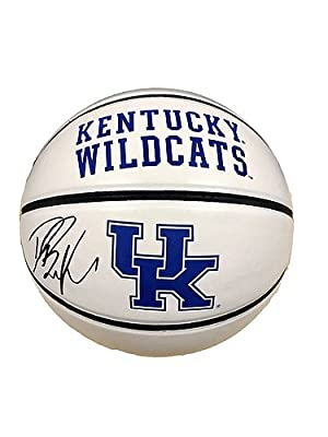 Devin Booker Kentucky Wildcats Signed Logo Basketball JSA Certified