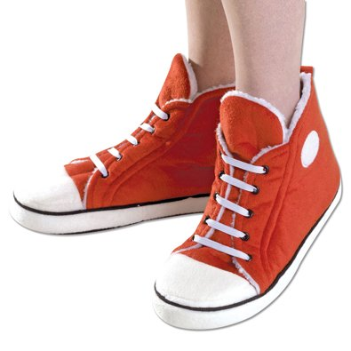 Retro Interior Hi Bits Pieces Plush Comfy Resistant Sole Red Warm Slip Sneaker and Top Slippers EVA qxYfv