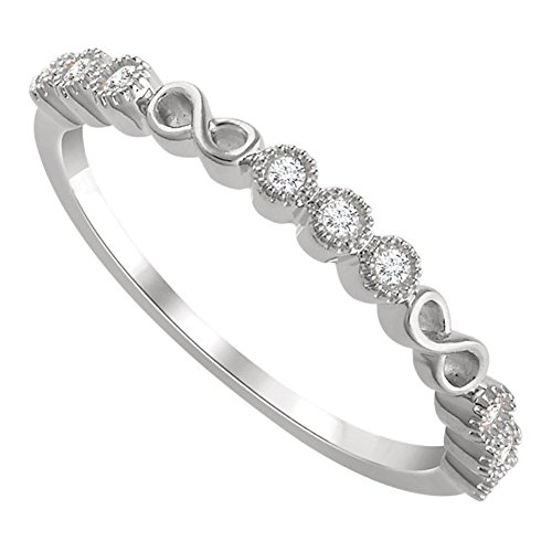 0.36 ct Ladies Round Cut Diamond Anniversary Band in 18 kt White Gold