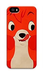 3D Hard Plastic Case for iPhone 5 5S 5G,Cute Red Fox Case Back Cover for iPhone 5 5S