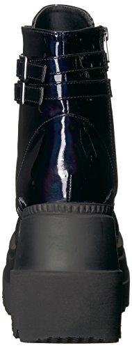 WoMen Demonia Boots 52 Blk Hologram Shaker Ankle aHpZndOH