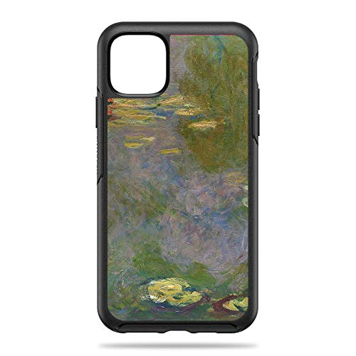 MightySkins Skin for OtterBox Symmetry iPhone 11 Pro Max - Water Lilies | Protective, Durable, and Unique Vinyl Decal Wrap Cover | Easy to Apply, Remove, and Change Styles | Made in The USA (Apple Water Lilly)