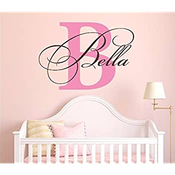 Nursery Custom Name and Initial Wall Decal Sticker 28  W by 20  H  sc 1 st  Amazon.com & Amazon.com: Nursery Custom Name and Initial Wall Decal Sticker 28
