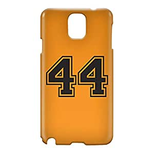 Loud Universe Samsung Galaxy Note 3 3D Wrap Around Number 44 Print Cover - Orange