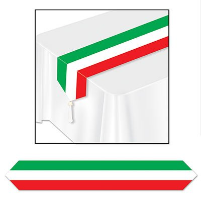 - Printed Red, White & Green Table Runner Party Accessory (1 Count) (1/pkg) Pkg/3