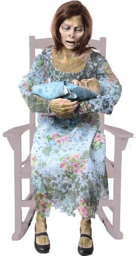 ROCKING MOLDY MOMMY ANIMATED HALLOWEEN PROP Lifesize Talking Haunted House New - MR124283 -