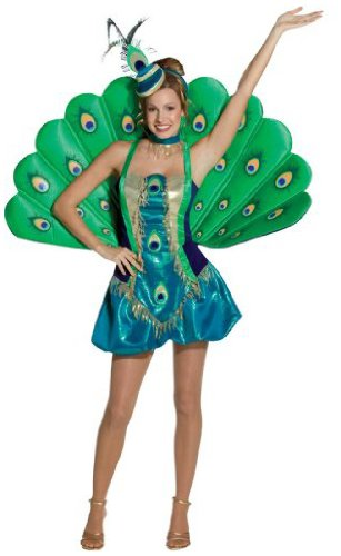 Rasta Women's Imposta Peacock Costume, Multi, Small/Medium -