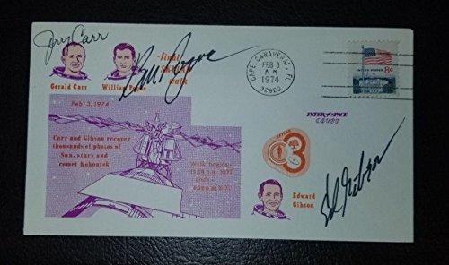 Crew Members of Skylab 4 Hand Signed Postal Cover JG Autographs -