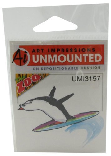 Art Impressions Surfer Rubber Stamp by Art Impressions