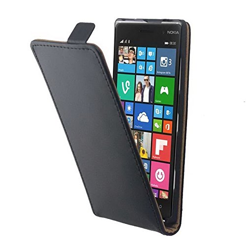 LYNHJCCell Phone Holsters Cellphone Case Vertical Flip Magnetic Button Leather Case for Nokia Lumia 830 (Nokia 830 Case Holster)