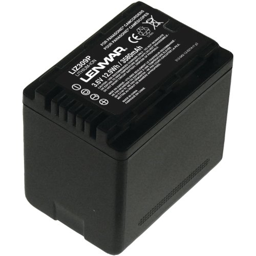 LENMAR LIZ309P LENMAR LIZ309P Extended Battery for Panasonic VW-VBK360 Camcorder (Black) by Lenmar