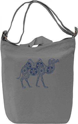 Camel Borsa Giornaliera Canvas Canvas Day Bag| 100% Premium Cotton Canvas| DTG Printing|