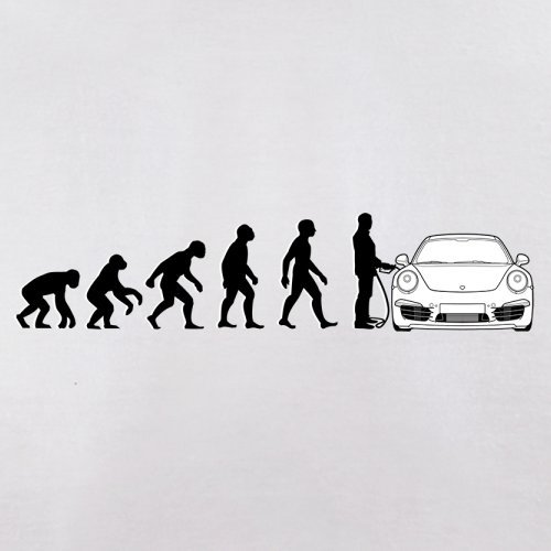 Evolution of Man - 911 Fahrer - Herren T-Shirt - Weiß - L