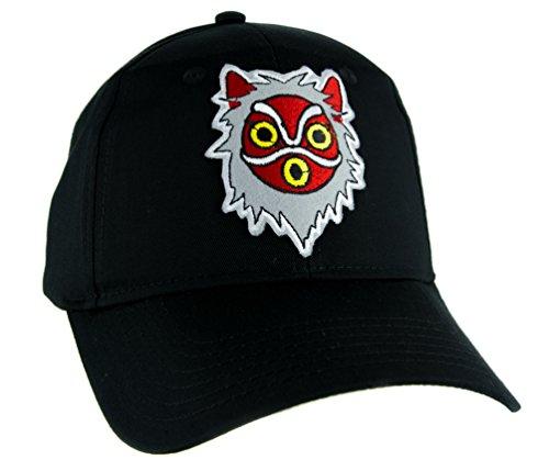 Princess Mononoke San Wolf Mask Hat Baseball Cap Alternative Anime Clothing ()