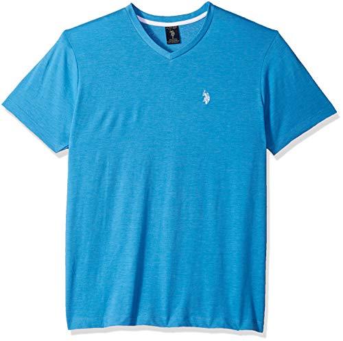 U.S. Polo Assn. Men's V-Neck T-Shirt, Ocean Heather, XL -