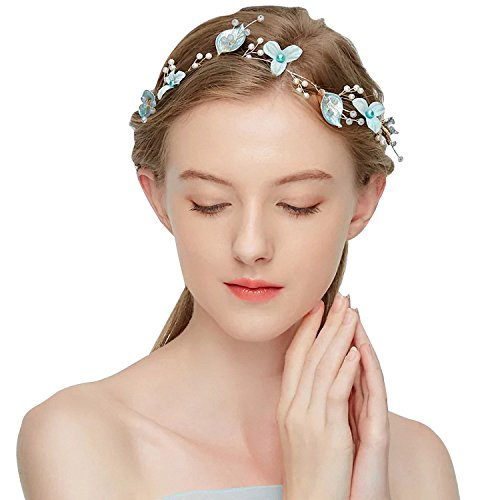 - 70ILY Handmade Mint Green Summer Bride Bridemaids Headband Bridal Wedding Hair Accessories
