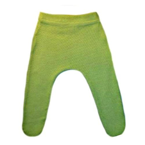 Jacqui's Baby Girls' Cotton Knit Tights with Elastic Waist - Lots of Colors, 6-12 Months, Bright Green -
