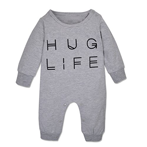 Minilove Baby Boys Girls Hug Life Letter Print Long