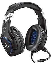 Trust Gaming GXT 488 Forze [Officiellt licensierad för PS4] Spelheadset för Playstation 4 med flexibel mikrofon och inbyggd fjärrkontroll – svart