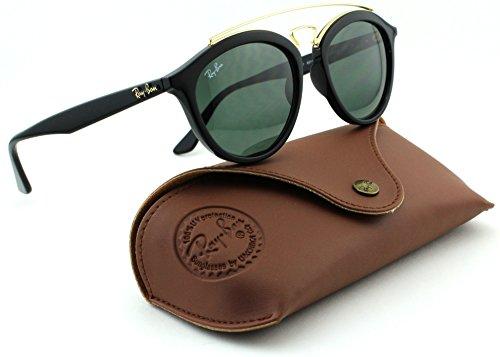 Ray-Ban RB4257 Unisex Round Women Sunglasses (Black Frame/Dark Green Lens 601/71, - Frames Ray Female Ban