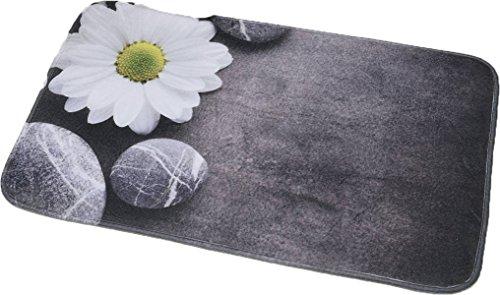 """EVIDECO 7701447 Printed Microfiber Mat Bath Rug 29.5""""x17"""", Zen Garden, Grey from EVIDECO"""