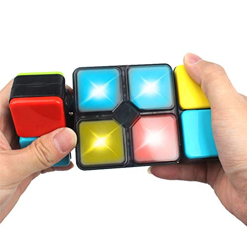 (Kingtree Variety Music Magic Cube for Teenagers, Electric Rubik's Cube Infinite Box for Boys & Girls, Latest Interactive Puzzle Toy Musical Decompression Brain Game for 6+ Years Old Children)