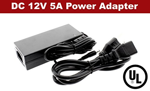 Crystal Vision DC 12V 5A UL POWER Fully Regulated Power Supply UL Listed for LED strips, Module, etc 3528, 5050, 5630 LED