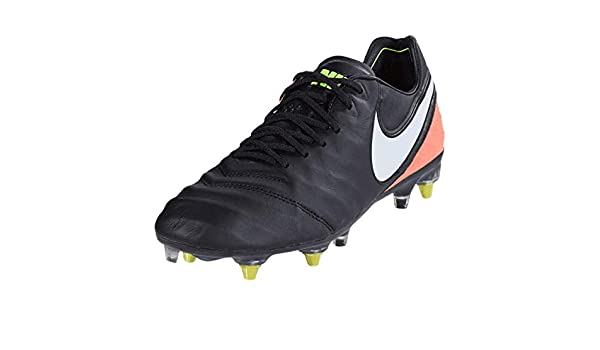 best service 8a293 b45f9 Amazon.com   NIKE Tiempo Legend VI SG-Pro Anti Clog Traction Soccer Sz 8.5  Black 869483-018   Soccer