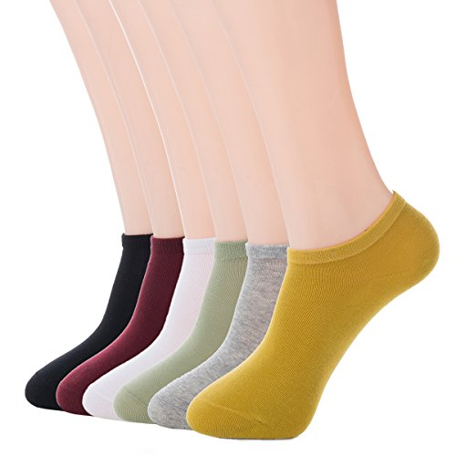 Top Eternities Women\'s 6 Pack Low Cut Thin Athletic Cotton Casual No Show Ankle Non-Slide Socks hot sale UeN0bKHd