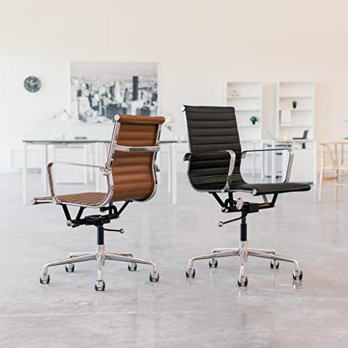 SOHO Ribbed Management Office Chair (White)