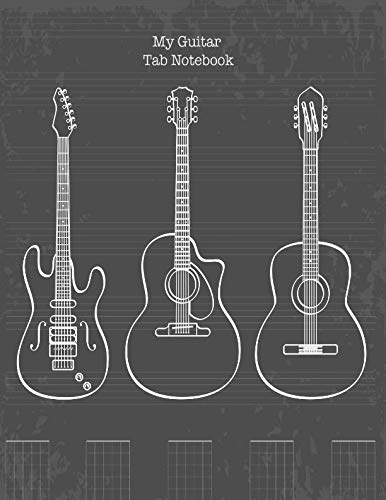 Guitare Tab - Guitar Tab Notebook: My Guitar Tablature Book - Blank Music Journal for Guitar Music Notes - More than 140 Pages