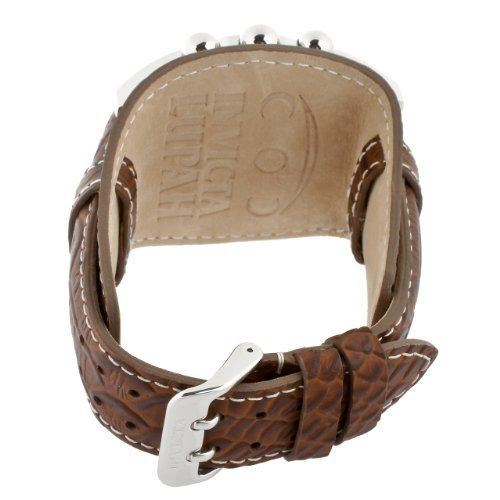 Dial Brown Leather Cuff (Invicta Men's 11322 Lupah Chronograph Beige Dial Brown Leather Watch)