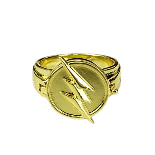 CrazyCatCos Reverse Flash Ring Gloden Alloy Cosplay Accessorie Props