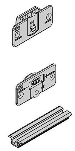 GedoTec® Möbel Schiebetürbeschlag für Holzschiebetüren Aluminium eloxiert   Komplett Set   Tragkraft 20 kg   Länge 2000 mm   Markenqualität für Ihren Wohnbereich GedoTec®