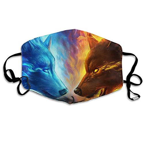 YUANSHAN Dust Mask Ice Fire Wolves Outdoor Mouth Mask Anti Dust Mouth Mask Man Woman -