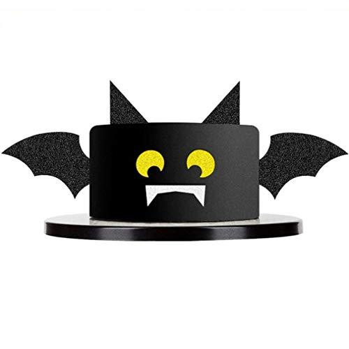 Halloween Birthday Cake Decorations (Mity rain Glitter Black Hallowee Bat Cake Topper for Halloween Cake Decoration Birthday Party)