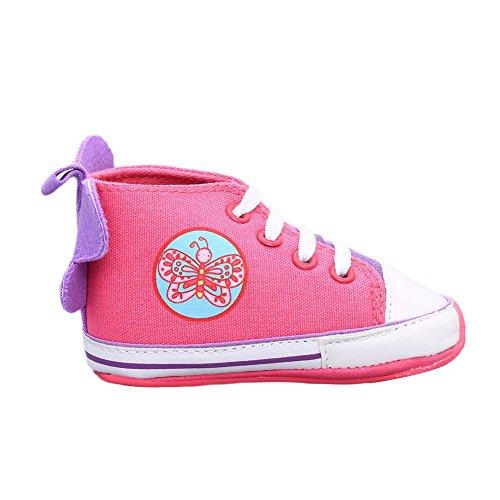 645474fc0058 Auntwhale Bebé Niño Bebé recién nacido Mariposa Botas altas Prewalker  Sneakers Cuna Zapatos 12 # ROSA ROJA Bueno wreapped - www.nbyshop.top