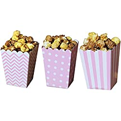 Popcorn Boxes, Pink, Pack of 36