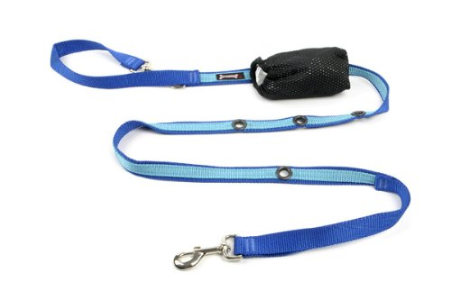 (Smoochy Poochy 2Tone Hands-Free Leash - Ocean Turquoise)
