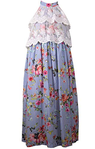 Bonnie Jean Tween Girls Floral Lace Maxi Dress (12)