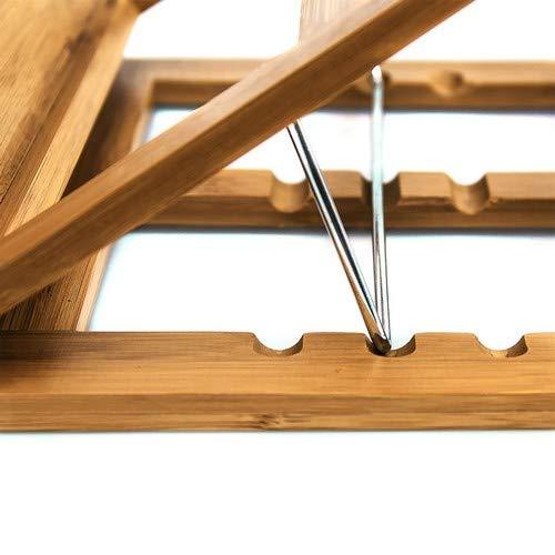 Marrone Chiaro Relaxdays 10014658 Reggilibri//Leggio Ideale per Ambienti Umidi in Legno di bamb/ù 22.5 X 33 X 22 cm Pratico e Funzionale