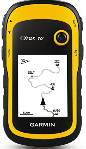 Garmin eTrex 10 Worldwide Handheld GPS Navigator With CampingForFoodies Desert Hiking Tips And Techniques For Beginners To Have Confidence With The Proper Gear, Boots, Clothing, First Aid And Hiking Essentials