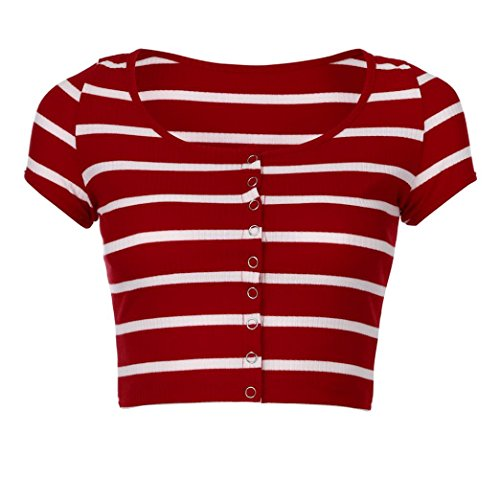 SANFASHION Damen Bekleidung Multicolore Multicolore Shirt165 Ballerine Donna SANFASHION Rosso rq4O1r