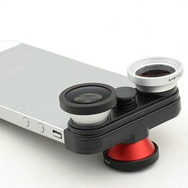 Bestlight 4 in 1 front & back Fisheye + Wide Angle + Macro Lens Kit Set for iPhone 5 5S 5G