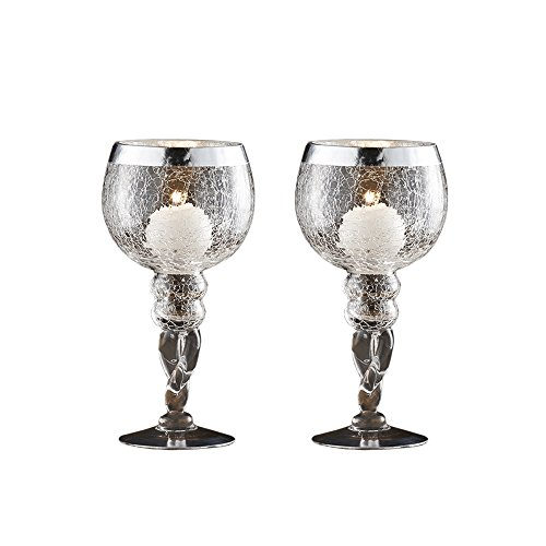 Fifth Avenue Crystal 215179-GB Buckingham Candle Holders (Set of 2), Silver - Avenue Candle Holder